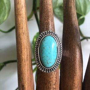 New Turquoise Ring Adjustable Dress Ring coating